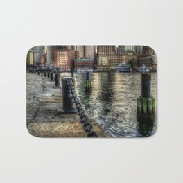 Boston Harbor walk Bath Mat