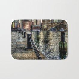 Boston Harbor walk Bath Mat