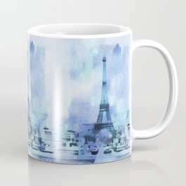 Blue Eifel Tower Paris France abstract painting Coffee Mug
