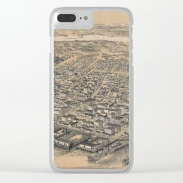 Vintage Pictorial Map of Seattle WA (1889) Clear iPhone Case