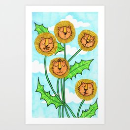Dandy Lions Art Print