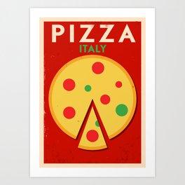 Vintage Pizza Poster Art Print