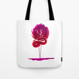 Fluorescent pink flamingo Tote Bag