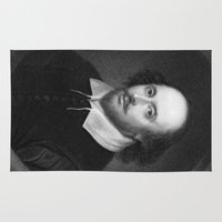shakespeare Area & Throw Rugs featuring William Shakespeare by Palazzo Art Gallery