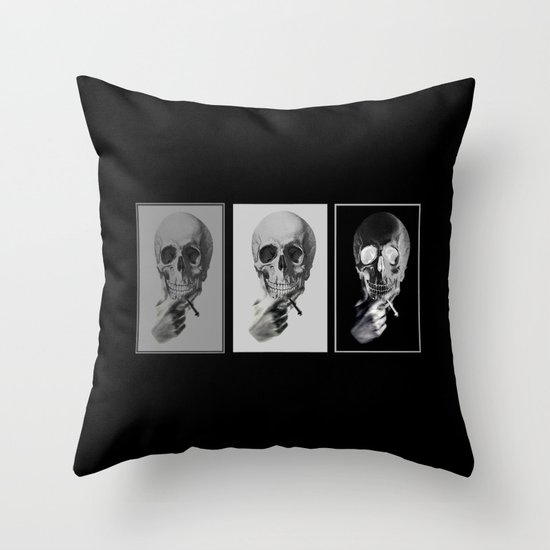 skull#05 Throw Pillow