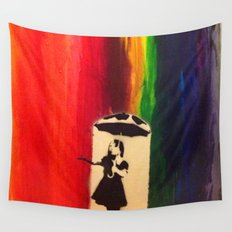 Raining colour  Wall Tapestry