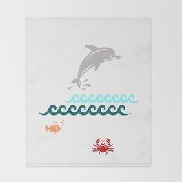 Flying Dolphin Throw Blanket