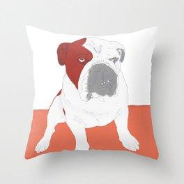 Bull dog Throw Pillow