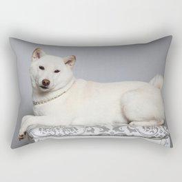 Cream Shiba Inu Dog Rectangular Pillow