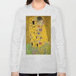 Gustav Klimt The Kiss Long Sleeve T-shirt