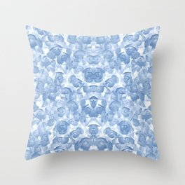 Blue Floral Seamless Pattern Throw Pillow