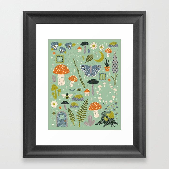 Fairy Garden Gerahmter Kunstdruck
