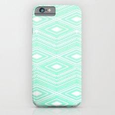 Hipster Mint Green Arrows Aztec Tribal Pattern iPhone 6 Slim Case