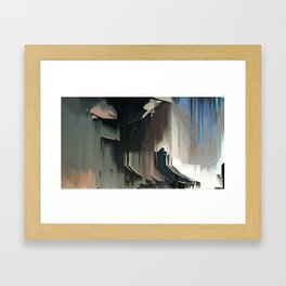 A Place I know: digital glitch painting Framed Art Print