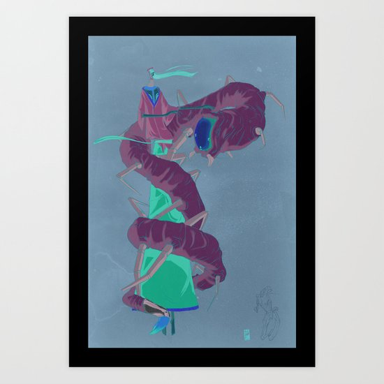 Kaguyahime - かぐやひめ(The Bamboo Princess) Art Print