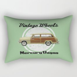 Vintage Wheels: Mercury Wagon (black) Rectangular Pillow