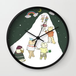 up to the mountain Wall Clock