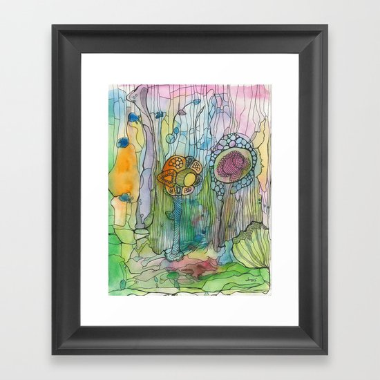 Alien Sea Floor Framed Art Print