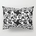 Curlicues Pentagon Black and White Pattern by taiche