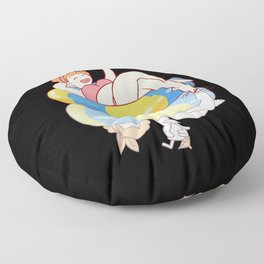 Summer Pool Party Floor Pillow