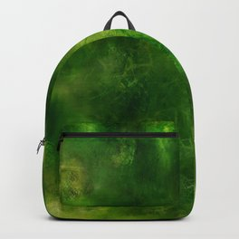 Green Crystal Marble Painting Backpack