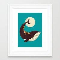 giraffe Framed Art Prints featuring The Giraffe & the Whale by Jay Fleck