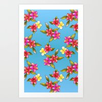aloha Art Prints featuring Aloha by Joke Vermeer