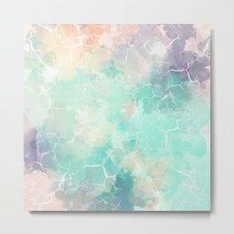 Colorful Marble Pattern Metal Print