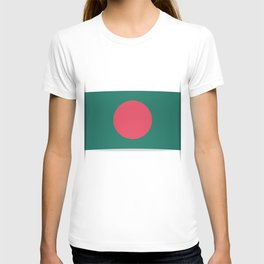 Flag of Bangladesh. The slit in the paper with shadows. T-shirt