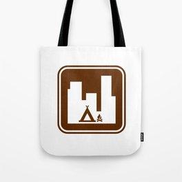 """Urban Pictograms """"Urban Camping"""" Tote Bag"""