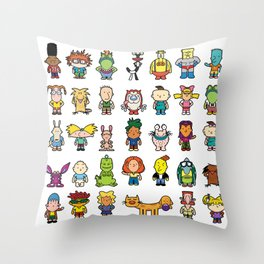 90s Nicktoons Throw Pillow