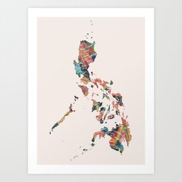 Map of the Philippines / 81 provinces Art Print