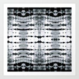 BW Satin Shibori Art Print