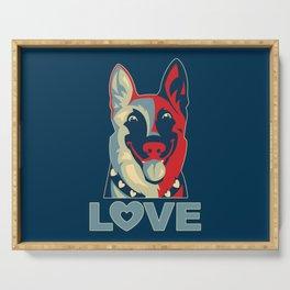 German Shepherd - Love Serving Tray