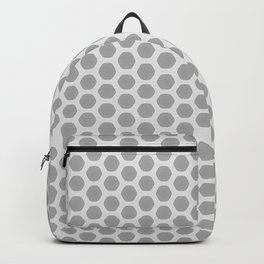 Honeycomb Grey and White Pattern Backpack