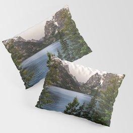 Grand Teton Wanderlust Lake Adventure - Nature Photography Pillow Sham