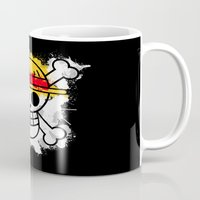 luffy Mugs featuring Straw Hat Pirates by rKrovs