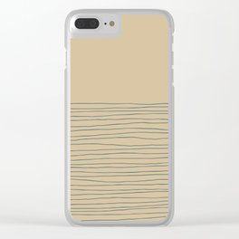 Hand Striped and Sea Clear iPhone Case