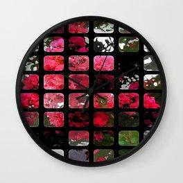 Crape Myrtle Art Rectangles 1 Wall Clock