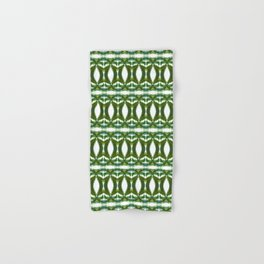 Palm Leaf Kaleidoscope (on white) #2 Hand & Bath Towel