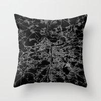 prague Throw Pillows featuring Prague by Line Line Lines