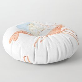 The Magnificent Shrimp Rider Floor Pillow