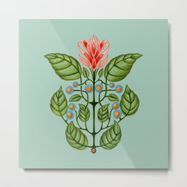 Good Morning Mr. Hoffmann Pattern (Pale Blue) Metal Print