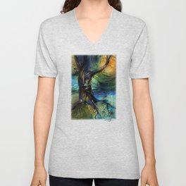 Spirit Tree by Kathy Morton Stanion Unisex V-Neck