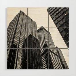 ArtWork New York City Print Work black white Wood Wall Art