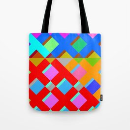 Cubic Quilt Pattern  Tote Bag