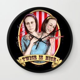 Tattler Twins (color) Wall Clock