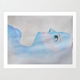 Blue Babe  Art Print