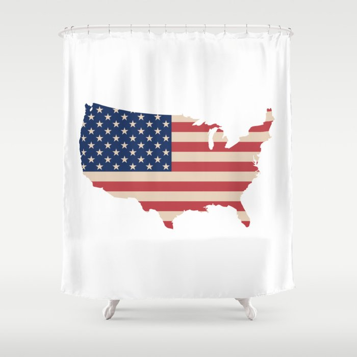 United States Of America Map Shower Curtain By Mapmaker