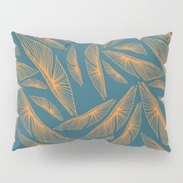 Feathered Leaf Pattern Pillow Sham
